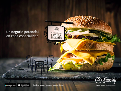 Turn your specialty into your business digital retouch digitalart restaurant business burger 2018 ad food