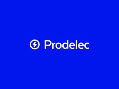 Prodelec Logo blue electricity ray mexico logo 2018