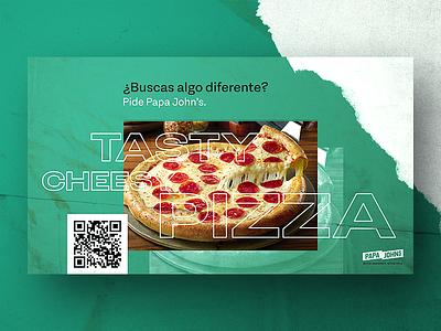 Try something different streetart 2019 advertising green propaganda tasty pizza