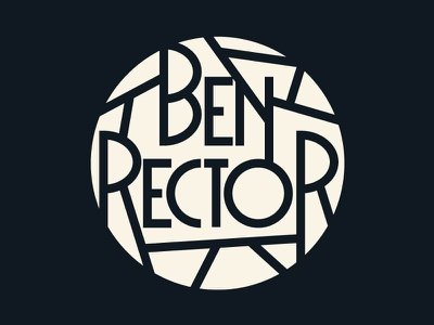 BR logo circular vector typography custom type