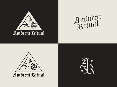 Ambient Ritual icon branding hand vintage simple monoline typography type vector illustration logo
