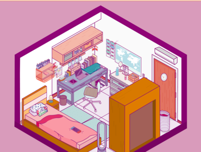 My personal space room dribbble home design graphicdesign isometric design isometric isometric illustration isometric art adobe illustrator illustration
