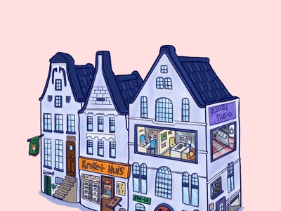 Amsterdam huis illustrator digital illustration characterdesign procreate digital painting graphicdesign emotion emotional design character illustration