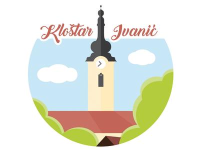 Klostar Ivanic village icon croatia church symbol vector icon mark symbol vector icon vector art church icon church logo town logo profile icon icons design icon artwork village