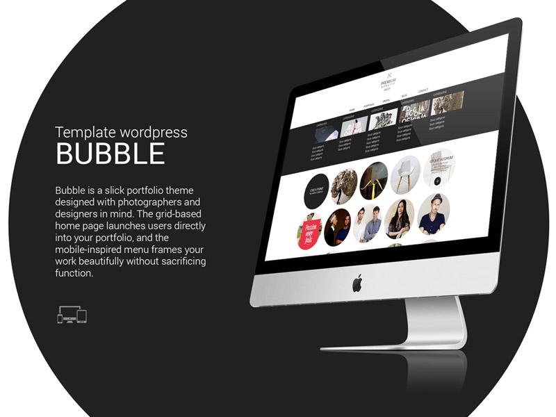 Theme wordpress bubble by François Chaillot | Dribbble | Dribbble