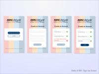 UI Challenge 001: Sign Up Screen