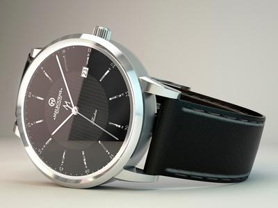 Black Watch 3D Design 3d art 3d watch watch 3d design