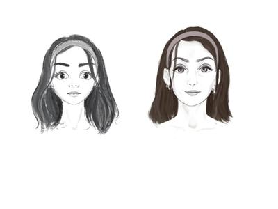 Girl Face Sketch sketching girl character sketch