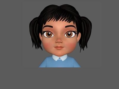 Girl 3D Model girl 3d modeling 3d character
