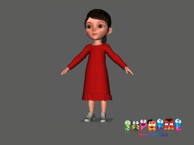Girl 3D Character Model 3d modeling 3d character