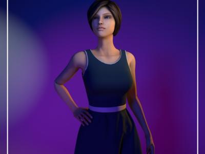 Girl 3D Design 3d model girl 3d design