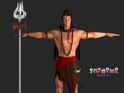 Lord Shiva 3D Model 3d moidel lord shiva