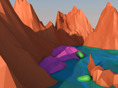 Low Poly Environment 3d enviroment low poly