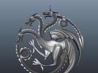 3d Dragon Pendant Model
