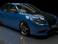 Blue Car 3d Model