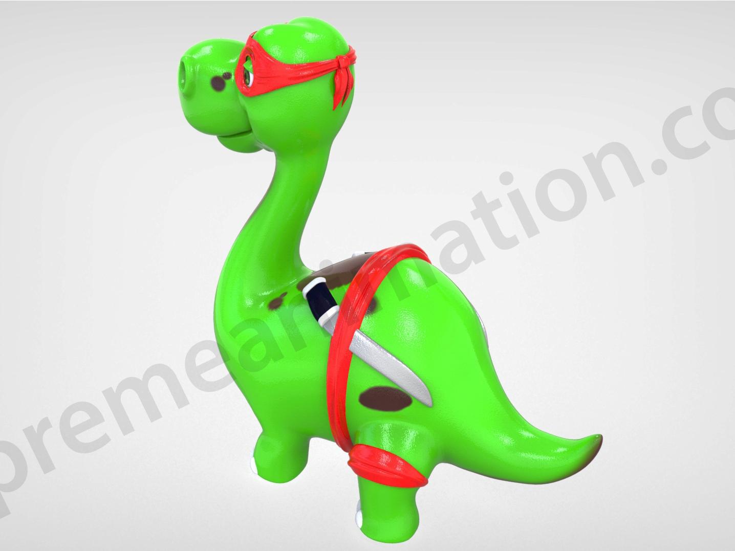 Ninja Dino Modeling 3d character ninja dino