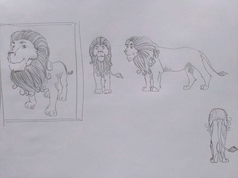 Lion Concept Sketch conceptsketch