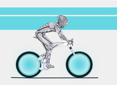 Cycle Rider Concept Sketch