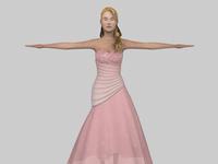 Lady Dress Render