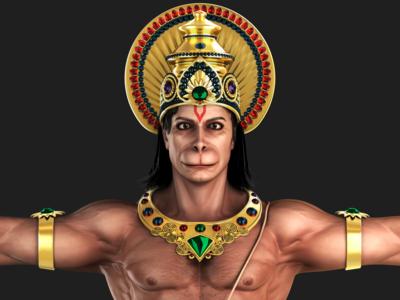 Hanuman 3D Model