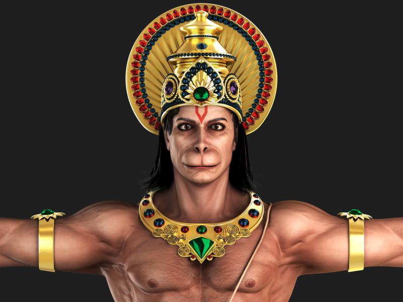 Hanuman 3D Model 3dmodeling 3d character