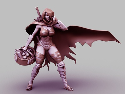 Warrior Women 3D Render