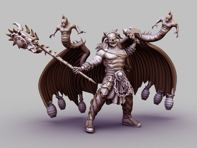 Devil Warrior 3D Render