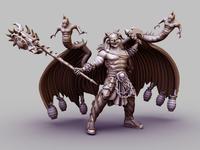Devil Warrior 3D Render