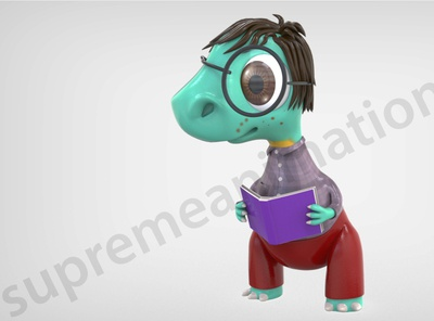 Nerdy Dino Render