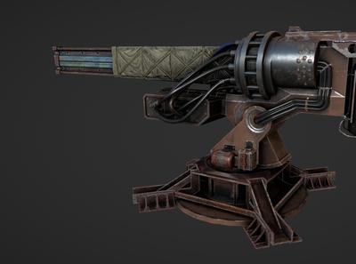 Game Gun 3D Model