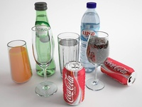 Soft Drink 3D Render