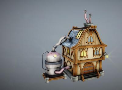 Laboratory 3D Render