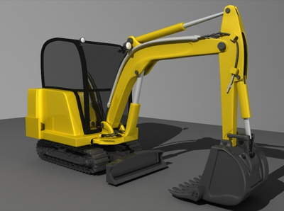 JCB Machine 3D Render