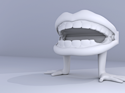 Mouth Gums 3D Design