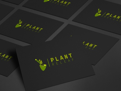 Plant Logo Show in Business Card
