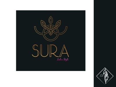 Sura Logo face woman girl modern modern logo fashion logo typography branding illustrator