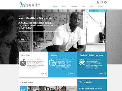 JoHealth new website website ui wordpress css3