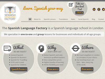 Spanish Language Factory website website ui css3 wordpress
