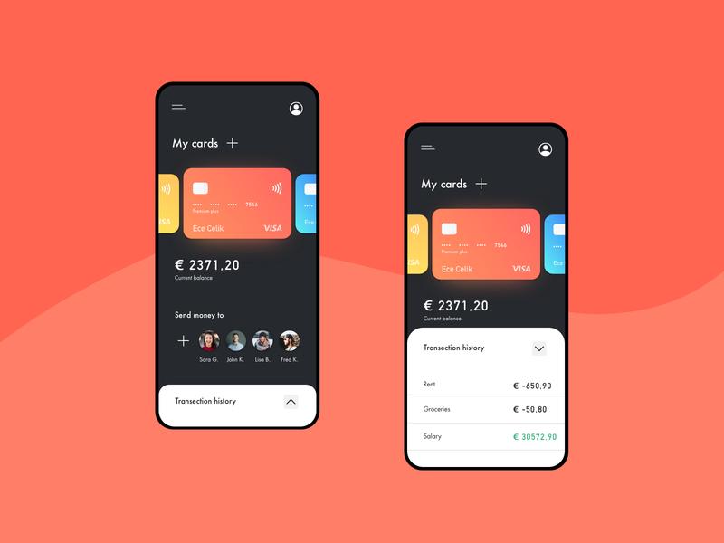 Wallet app • UI challenge wallet ui payment method design wallet payment uidesign sketch mobile dailyui ui