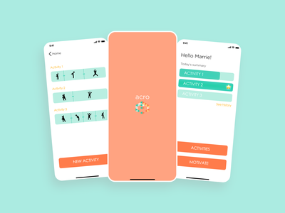 Exercise app for elderly with Alzheimer's disease uidesign mobile dailyui ui branding logo figmadesign figma exercise app mobile design mobile apps mobile app