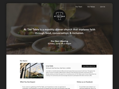 Community Meal Landing Page