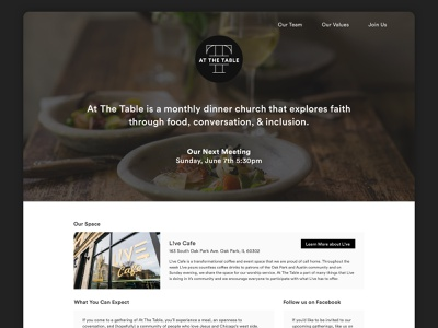 Community Meal Landing Page landing page table dinner church