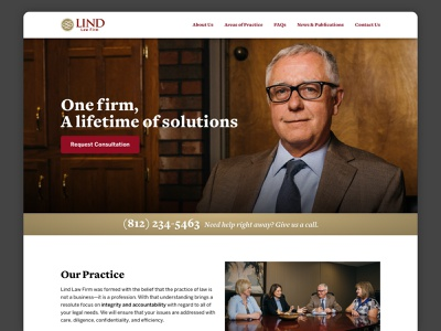 Local Law Firm Landing Page photography web landing page