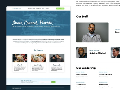 Open Arms Website Redesign redesign landing page photography web