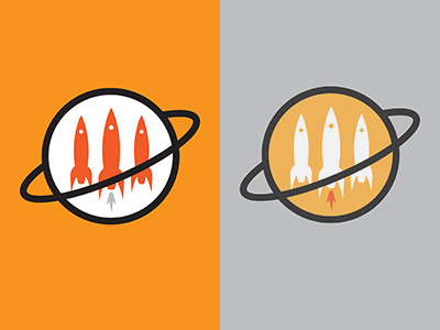 Space Inspired Startup Logo