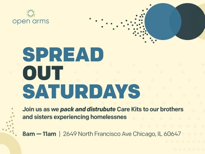 Open Arms Spread Out Saturdays graphicdesign npo