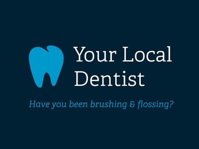 Local Dentist Logo Mockup