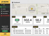 BikeSpike Dashboard Mockup