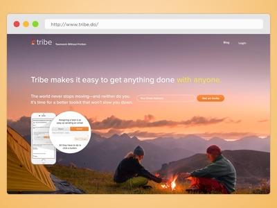 Tribe Landing page v1.1