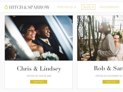 Hitch & Sparrow Wedding photography blog